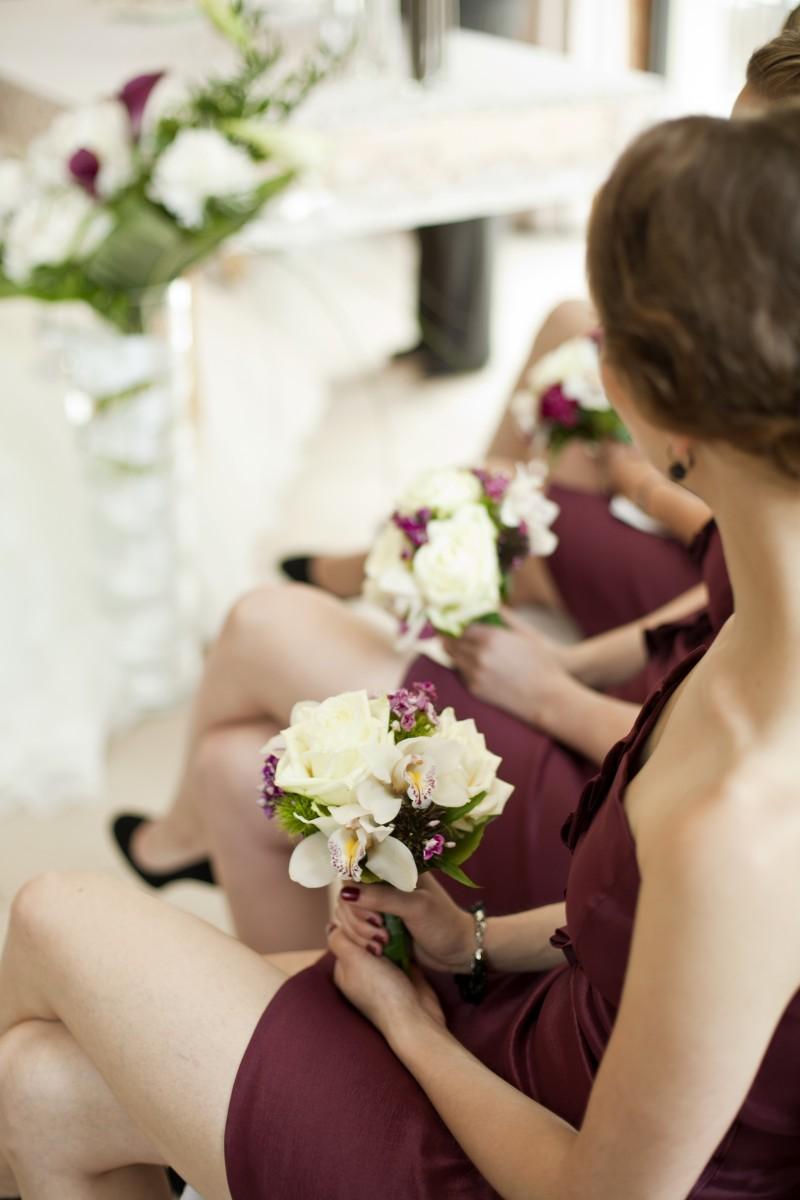 bridesmaids, Sträuße, Flowers, Brautjungfernsträuße