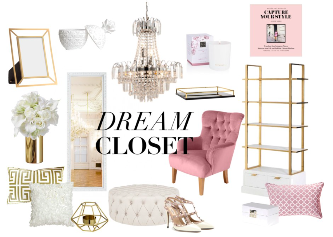 walk in closet inspiration romantic hollywood glam. Black Bedroom Furniture Sets. Home Design Ideas
