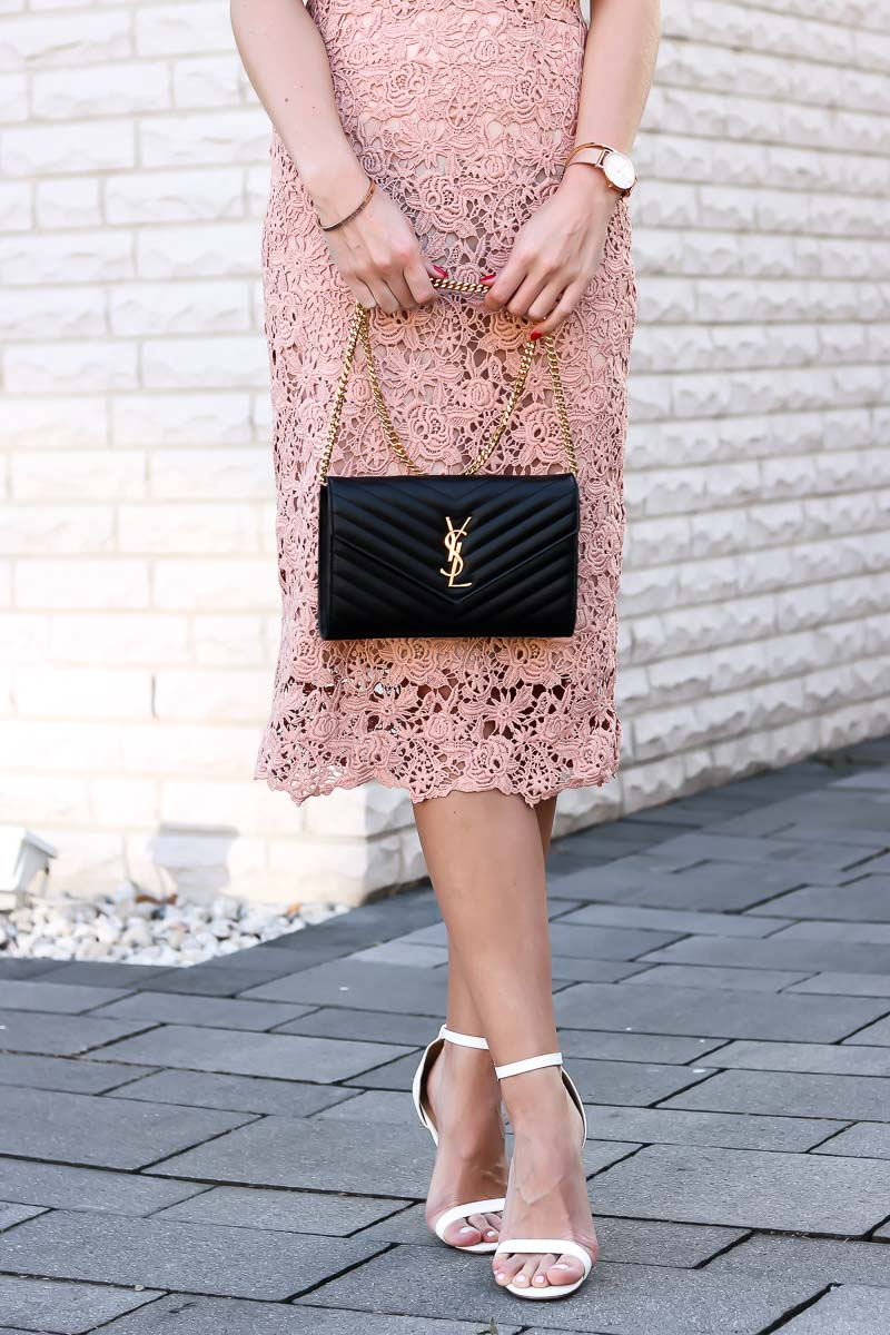 Outfit, Pencil Skirt, Blush, YSL, Spring, Summer