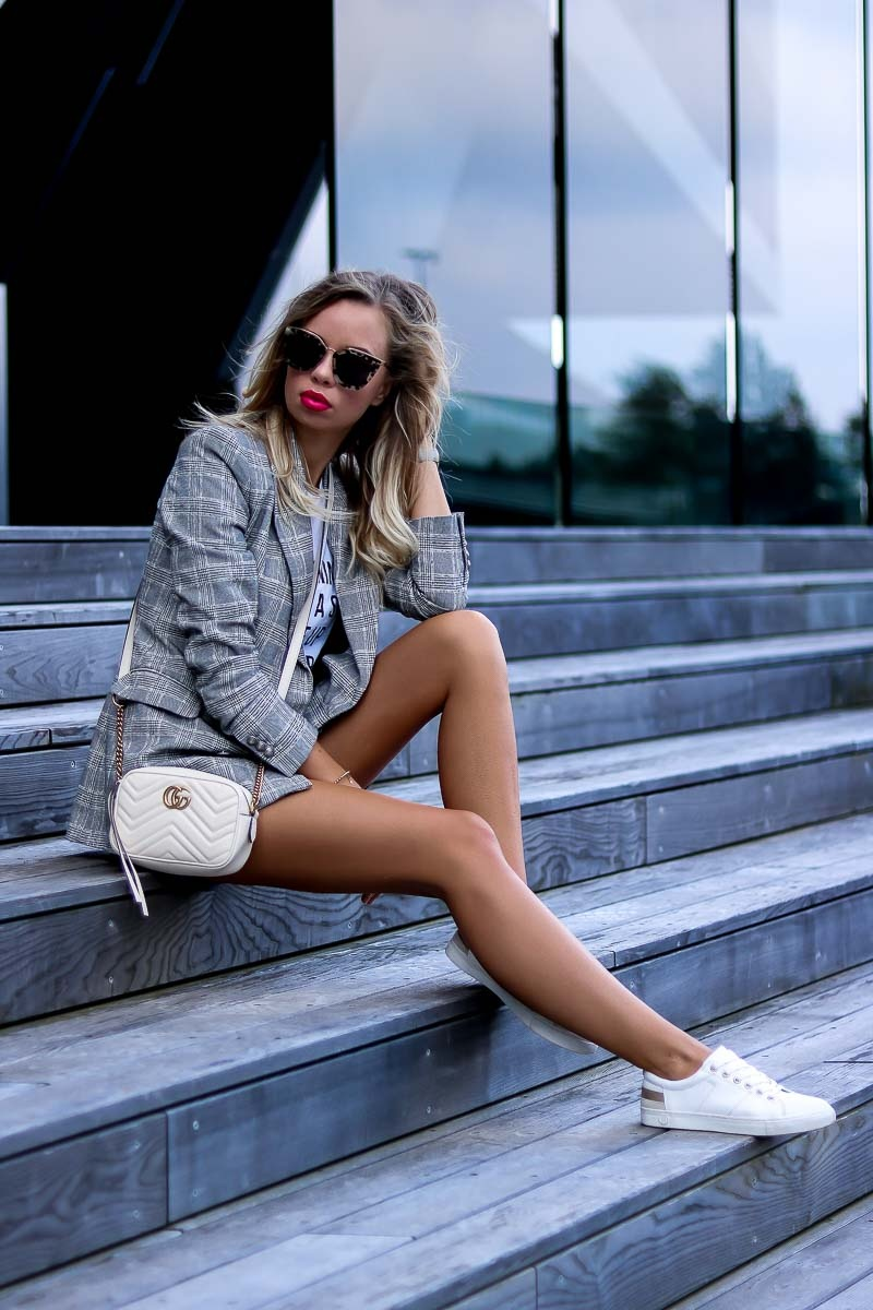 Casual Summer Outfit with white Gucci bag