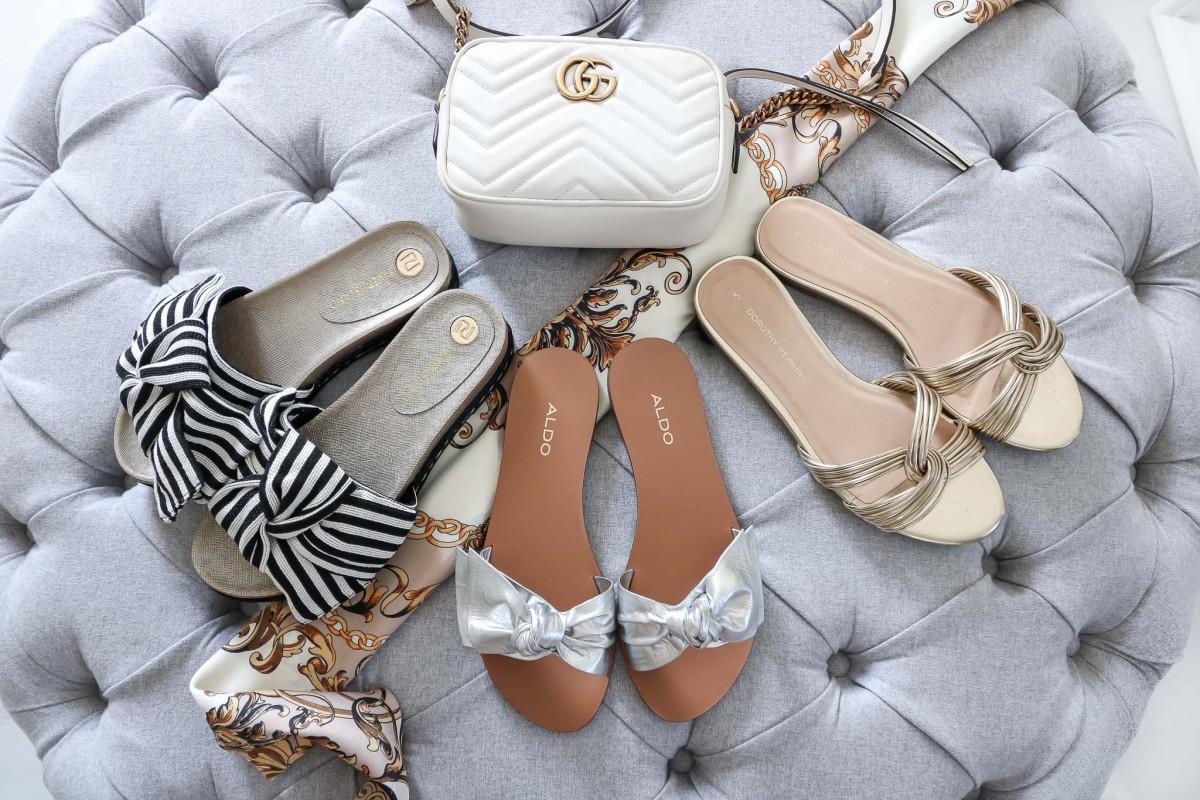 What to pack for Dubai, Slides, Pantoletten
